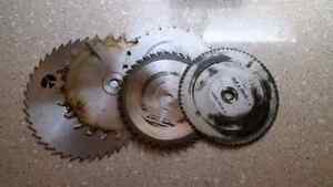 Various circulating saw blades