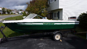15.5' Peterborough boat with 70 HP Johnson outboard