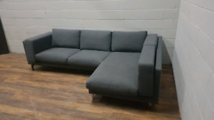 Free Delivery: Grey Ikea Nockeby Sectional