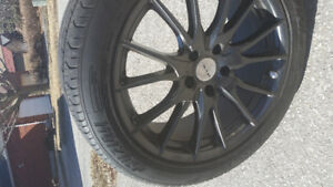 245/45R18. Tires and rims