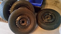 P205/70R15 Michelin X-Ice Winter Tires with Rims