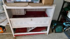 Large indoor guinea pigs/ rabbit hutch