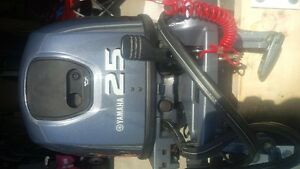 Yamaha 25 hp four stroke long shaft electric outboard
