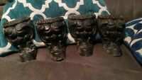 Antique Ornate Cast Iron Feet!