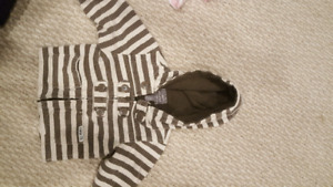6 to 12 month roots sweater/jacket