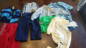 Lot 2 size 24 months,  pants, tops,  pjs