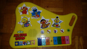 Vintage 1990's Sesame Street All Star Band Musical Toy