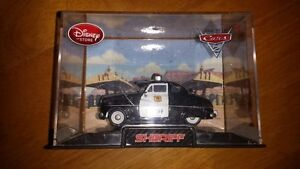 Disney Store Cars 2 Sheriff Diecast with Display