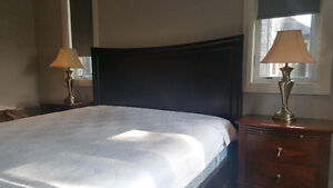 King-size solid wood bedframe London Ontario image 3