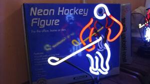 Joueur de Hockey en Neon