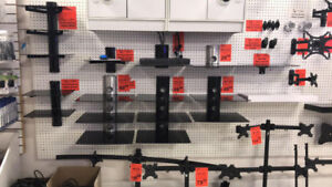DVD GLASS SHELVES, SINGLE, DOUBLE AND THREE TIER FROM $20