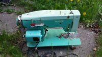 White zig zag sticher sewing machine made in japan