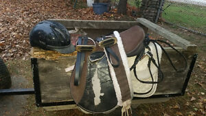 pony saddle,bridle,pads,etc
