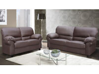 BRAND NEW SOFA LEATHER SOFAS, AVAILABLE FOR NEXT DAY DELIVERY