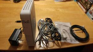 modem Bell complet avec fils, pour 20$