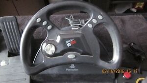 Playstation Mad Catz Wheel & Foot Pedals & Controller London Ontario image 2