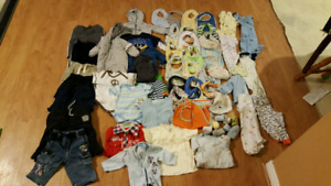 Boys baby clothes size 0-12 months