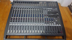 Used 20 Channel 1000W Powered Mixer w/ Mains & Monitors