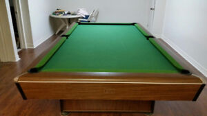 Premier 4X8 high quality slate bed pool table - including set-up