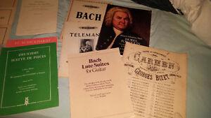 Partitions de musiques classiques divers répertoires à vendre