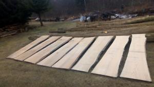 Oak live edge slabs
