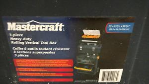 Mastercraft 3 piece heavy duty rolling vertical tool box