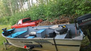 14' Aluminum fishing boat