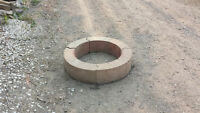 FIRE PIT BLOCKS, PORTABLE IN EXC CONDITION $35.00