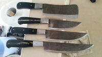 Hand made cooking knives