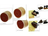 Wooden Handle Rubber Stamps Bundle 23pcs