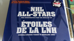 NHL All-Stars 2002 Commemorative Stamp and Medallion Set