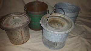 vintage fishing minnow pails - antique tackle box - old Peterborough Peterborough Area image 8