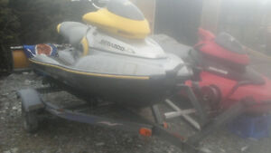 two seadoo and tralior need work