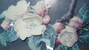 VINTAGE BEAUTIFUL 3D HAND CAST PAPER ART FLORAL SHADOW BOX Kitchener / Waterloo Kitchener Area image 5