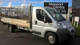 2012 12 PEUGEOT BOXER 2.2 HDI LONG WHEEL BASE 130 BHP CAGED DROPSIDE DIESEL