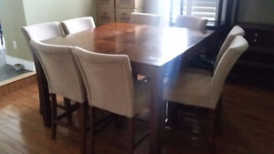 8 person bar type dining table