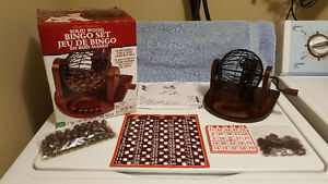 Solid Wood Bingo Set by Cardinal Industries - New in Box - 2012