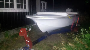Boat, Trailer and Outboard Motor - Running - $700