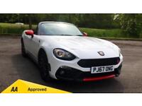 2018 Abarth 124 Spider 1.4 T Multiair 2dr with SAT NA Manual Petrol Roadster