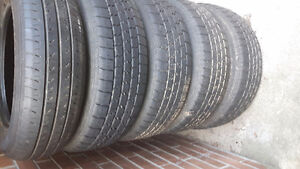 P175/70R14 84T 4 summer tires and 1 spare tube