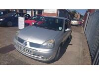 2005 / 55 Renault Clio 1.2 Campus Sport 3 Door Full MOT+Warranty+AA Cover