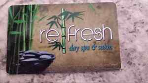 REFRESH DAY SPA AND SALON $55 GIFT CARD