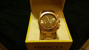 Men's 18k gold plated Invicta watch