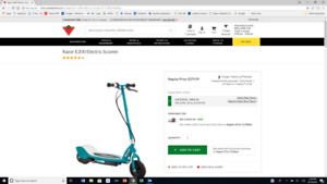 I have two E200 Electric Scooters  Fast...   For kid/teens