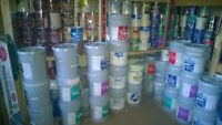Tinted paint $10-$25 p/gallon for sale; many colors of interior,