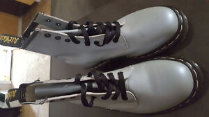 Grey 8 Hole Size 4 Dr. Martin Boots