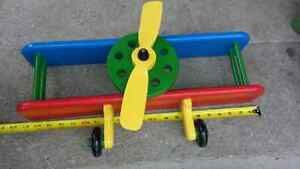 ► Old Propeller Air plane Wall Shelf ( Handmade and Painted )