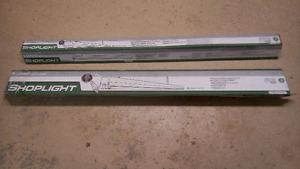 """TWO SHOP LIGHTS NEW IN BOX both for $30! 48"""" LONG 2 BULB T8"""