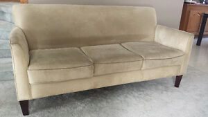 Apartment size micro suede couch