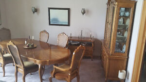 Beautiful French Provincial Dining Room Suite for Sale